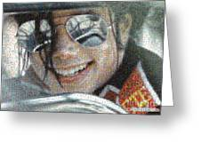 Michael Jackson - Mosaic Greeting Card