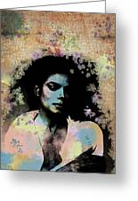 Michael Jackson - Scatter Watercolor Greeting Card