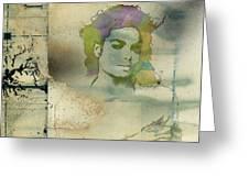 Michael Jackson Silhouette Greeting Card