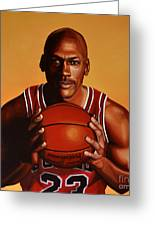 Michael Jordan 2 Greeting Card