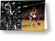 Michael Jordan Shoes Greeting Card