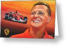 Michael Schumacher 2 Greeting Card