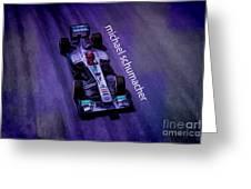 Michael Schumacher Greeting Card