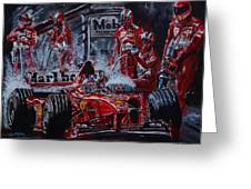 Michael Schumacher Out Of The Darkness Greeting Card