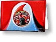 Michael Schumacher Though The Logo Greeting Card
