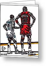 Micheal Jordan 1 Greeting Card by Jeremiah Colley
