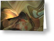 Michelangelo Fresco Ceiling Atmosphere Greeting Card