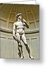 Michelangelos David  Greeting Card