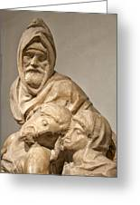 Michelangelo's Final Pieta Greeting Card