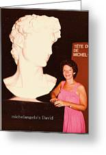 Michelangelos Statue Of David Greeting Card