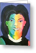 Michelle Obama Color Effect Greeting Card
