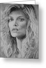 Michelle Pfeiffer Greeting Card
