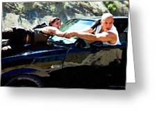 Michelle Rodriguez And Vin Diesel @ Fast To Furious Greeting Card