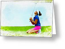 Michelle Wie Of The United States Reacts After Missed Off To A B Greeting Card