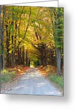 Michigan Back Roads Greeting Card