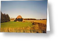 Michigan Barn And Landscape Greeting Card