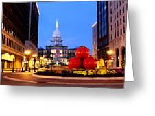 Michigan Capital Greeting Card