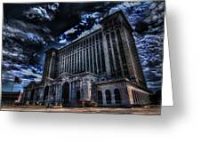 Michigan Central Station Hdr Greeting Card