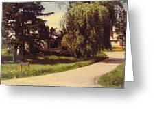 Michigan Farmhouse Landscape Greeting Card