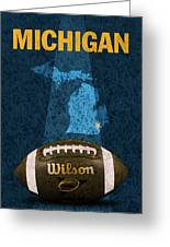 Michigan Football Poster Greeting Card