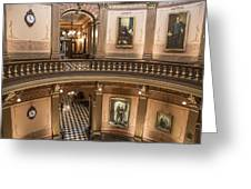 Michigan State Capitol 2 Floors Color Greeting Card