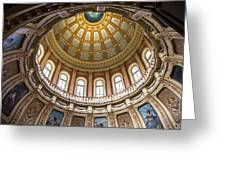 Michigan State Capitol Dome In Color  Greeting Card