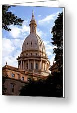 Michigan State Capitol Greeting Card