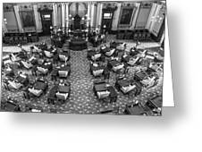 Michigan State House At Capitol  Greeting Card