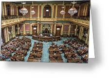 Michigan State Senate From Above  Greeting Card