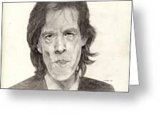 Mick Jagger 2 Greeting Card