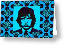 Mick Jagger Abstract Window P168 Greeting Card by Wingsdomain Art and Photography
