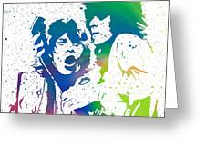 Mick Jagger And Keith Richards Greeting Card