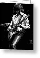 Mick 1977 Art Bw Greeting Card