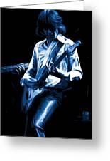 Mick Plays The Blues In Spokane 1977 Greeting Card