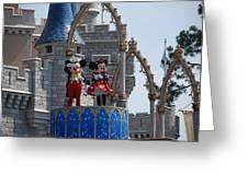 Mickey And Minnie In Living Color Greeting Card