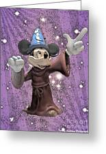Mickey And The Stars Greeting Card