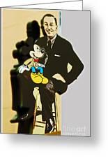 Mickey And Walt Greeting Card