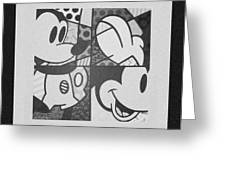 Mickey In Black And White Greeting Card