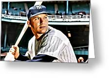 Mickey Mantle Greeting Card