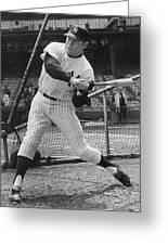 Mickey Mantle Poster Greeting Card