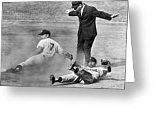 Mickey Mantle Steals Second Greeting Card