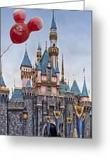 Mickey Mouse Balloon At Disneyland Greeting Card