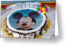 Mickey Mouse Cake Greeting Card