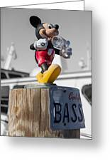 Mickey On A Post Greeting Card