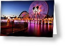 Mickey's Water Wheel Greeting Card