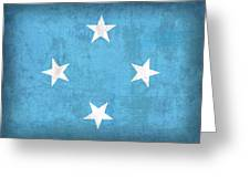 Micronesia Flag Vintage Distressed Finish Greeting Card