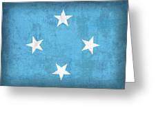 Micronesia Flag Vintage Distressed Finish Greeting Card