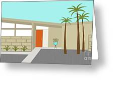 Mid Century Modern House 1 Greeting Card by Donna Mibus