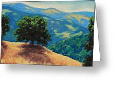 Mid Day On Golden Hills Greeting Card