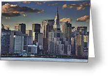 Mid Manhattan In Hdr Greeting Card